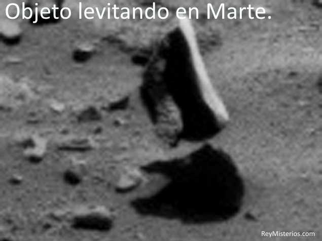 Las Rocas levitan en Marte