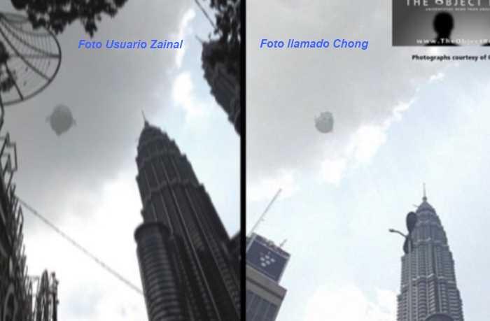 ovni torres gemelas en Malasia