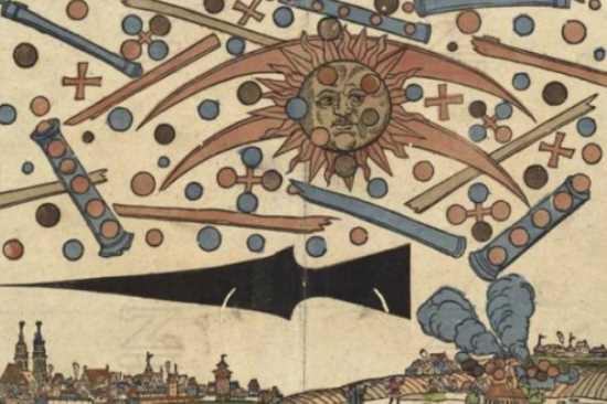 La batalla extraterrestre de Nuremberg en 1561 Alemania
