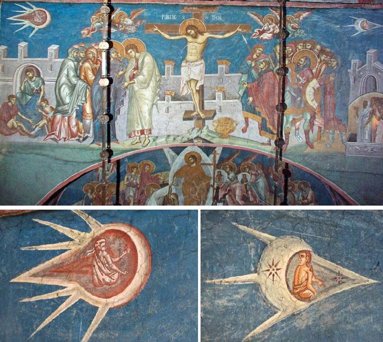 Crucifixión pintado ovnis reales