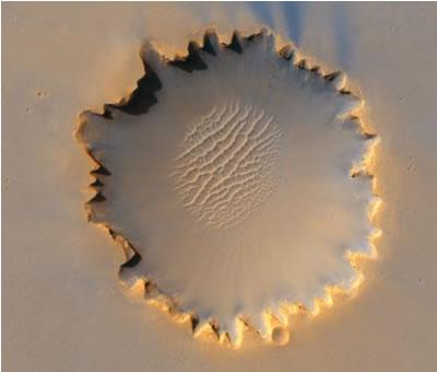 cráter marte